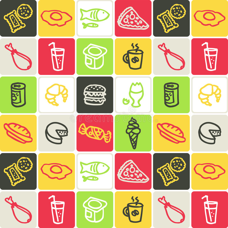 Food Checked Pattern Stock Image