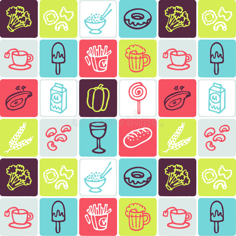 Download Food checked pattern stock vector. Illustration of milk - 3343523
