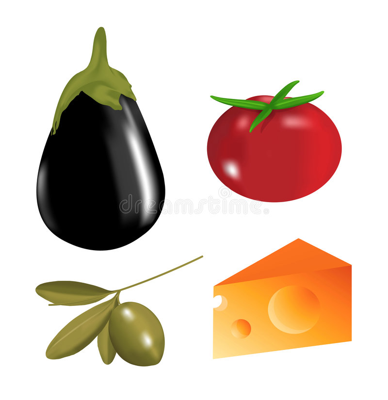 Food clip-art royalty free stock photography