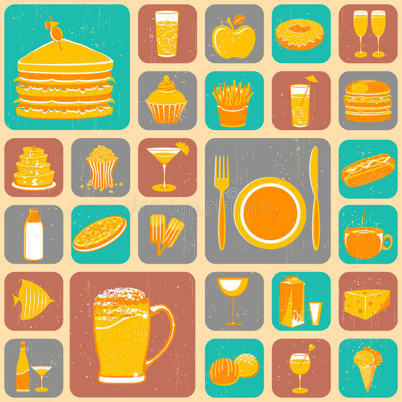 Download Food Collage stock vector. Image of grungy, lime, cake - 25647655