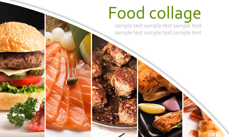 Food collage royalty free stock photo