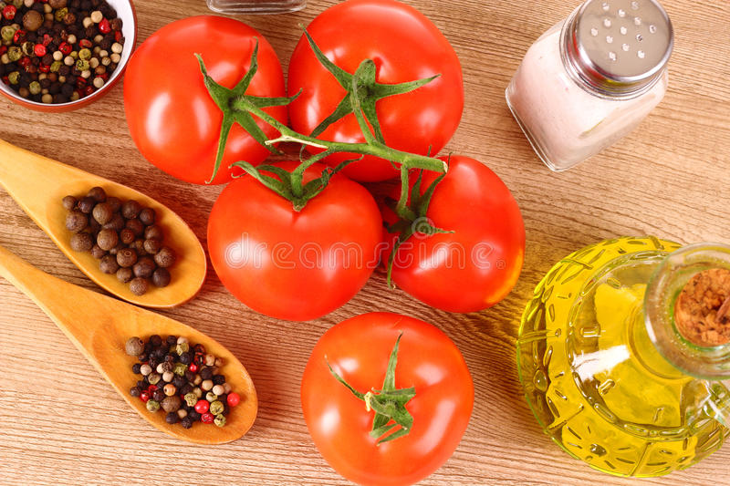 Food cooking. Ingredients and spice for food cooking royalty free stock image
