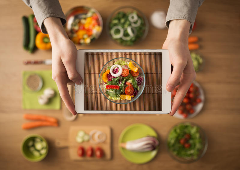 Food and cooking app on digital tablet stock image image of food download food and cooking app on digital tablet stock image image of food lunch forumfinder Choice Image