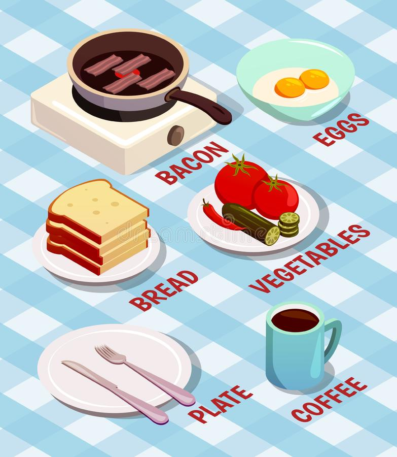 Food Cooking Isometric Composition vector illustration