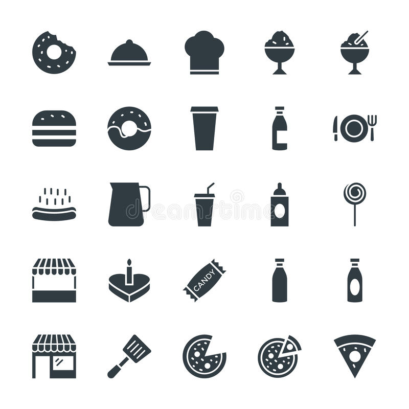 Free Food Cool Vector Icons 2 Royalty Free Stock Image - 71534606