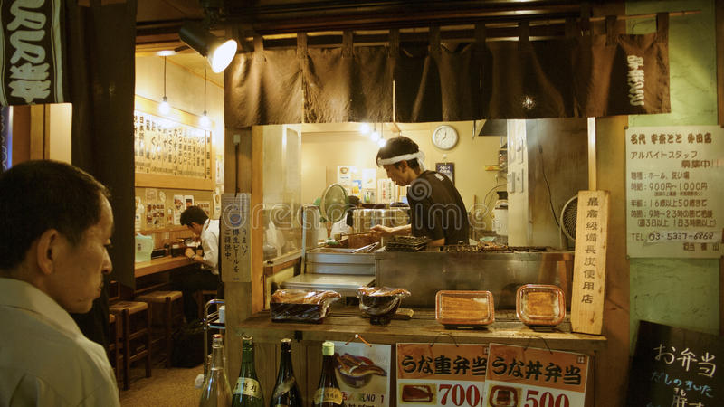 Download Food counter, Tokyo editorial photo. Image of tradition - 26600846
