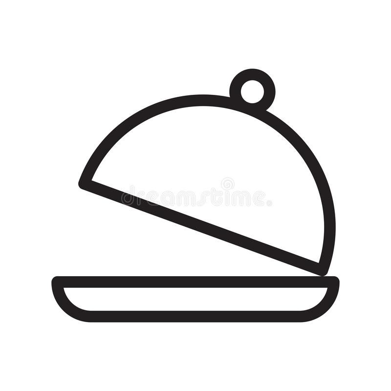 Food cover thin line vector icon royalty free illustration