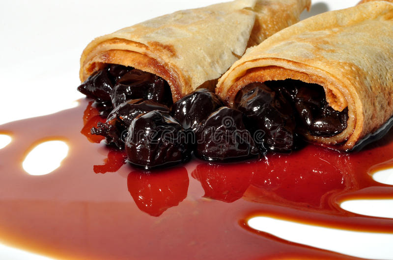 Food, crepes royalty free stock image