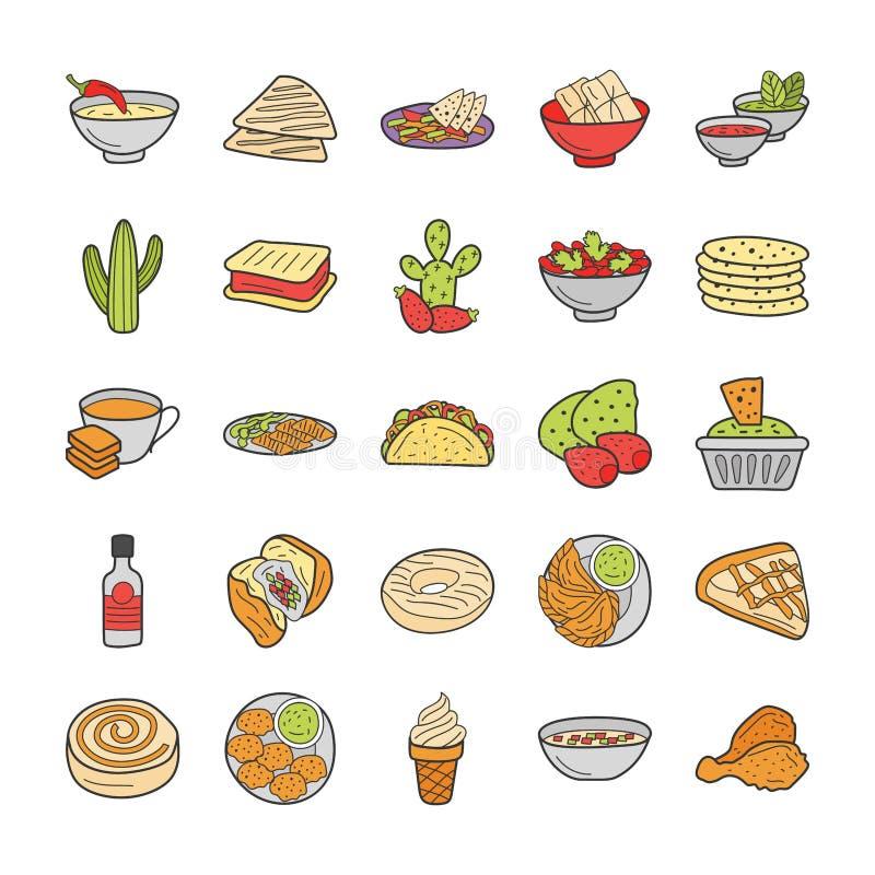 Food Cuisines Pack stock illustration