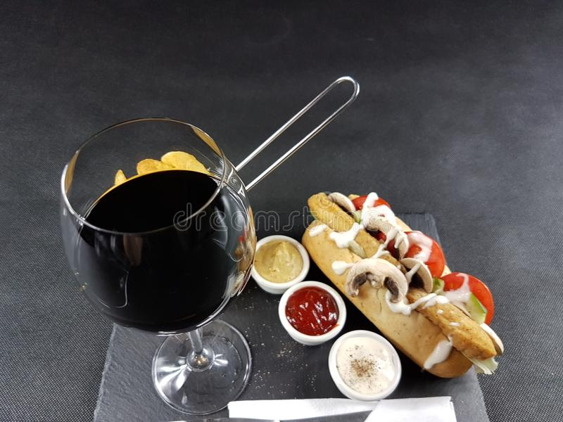 Food delicious elegant eat table beverage drink lunch royalty free stock photos