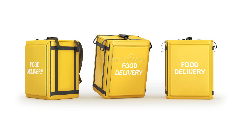 Food delivery bag on a white background. Food delivery bagon a white background. 3d illustration vector illustration