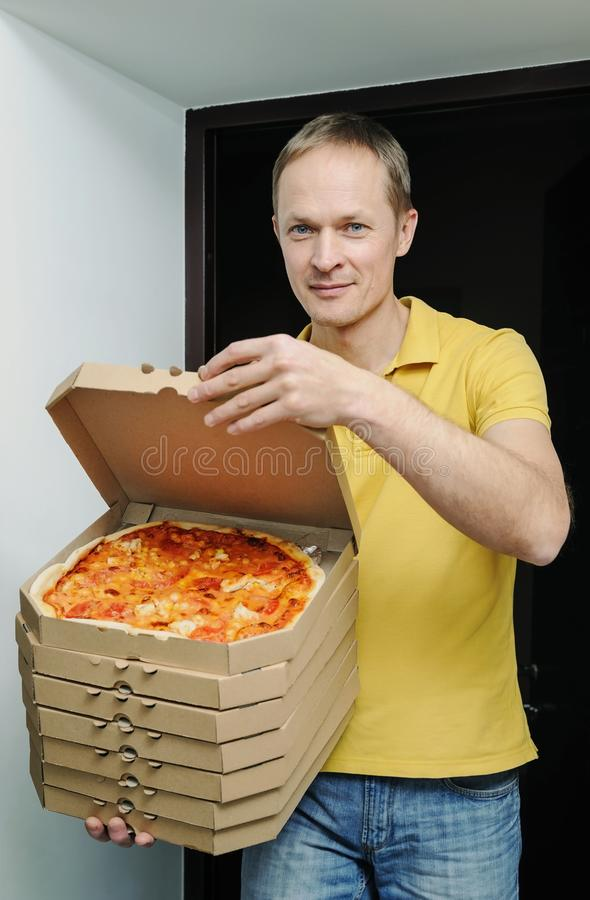 Food delivery home. royalty free stock photography