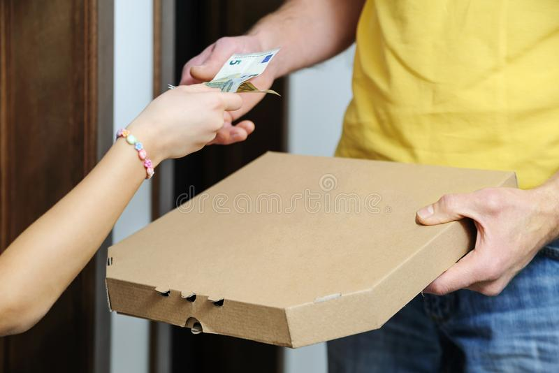 Food delivery home. stock photography