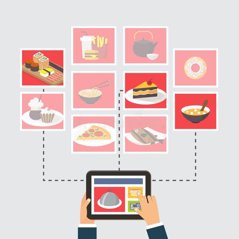Food delivery online order or recipe searching stock vector download food delivery online order or recipe searching stock vector illustration of online forumfinder Images
