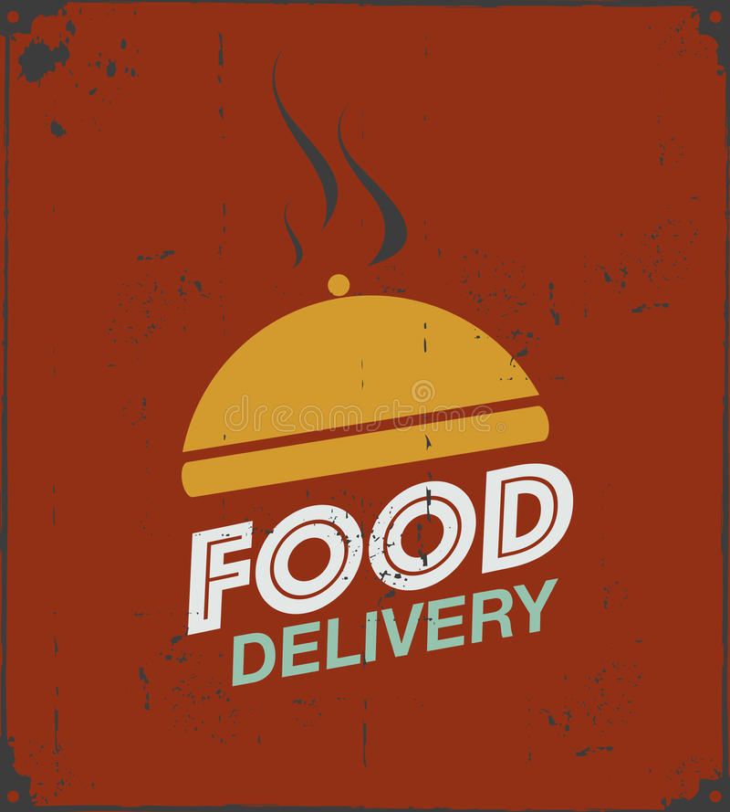 Food delivery poster. Abstract background royalty free illustration