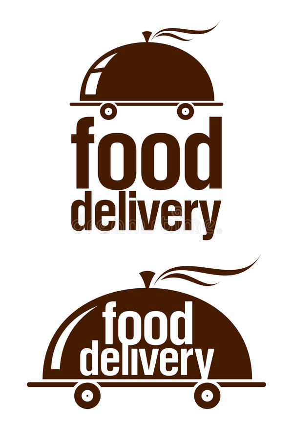 Food Delivery Signs. Stock Photography