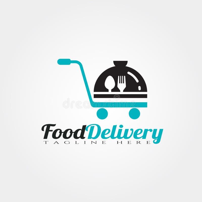 Food delivery vector logo design.  royalty free illustration