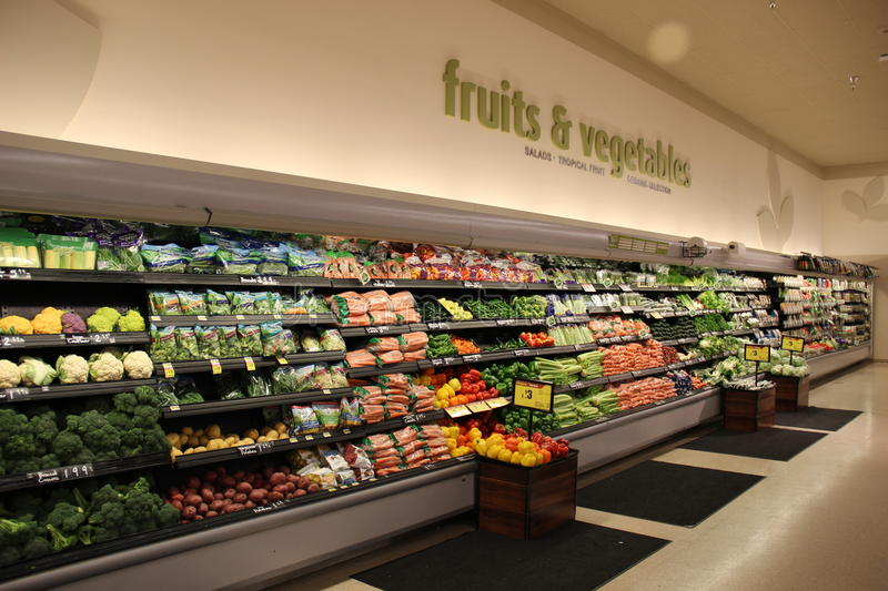 Food Department in Supermarket royalty free stock image