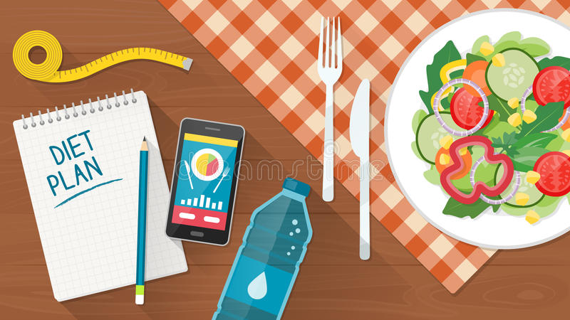 Food and diet vector illustration