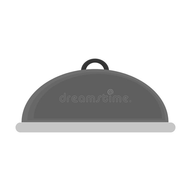 Food dish dome symbol. Vector illustration graphic design vector illustration