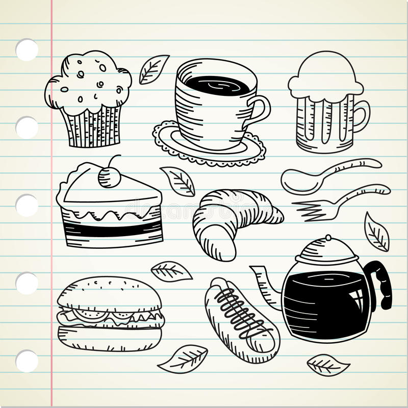 Food Doodle Royalty Free Stock Photography
