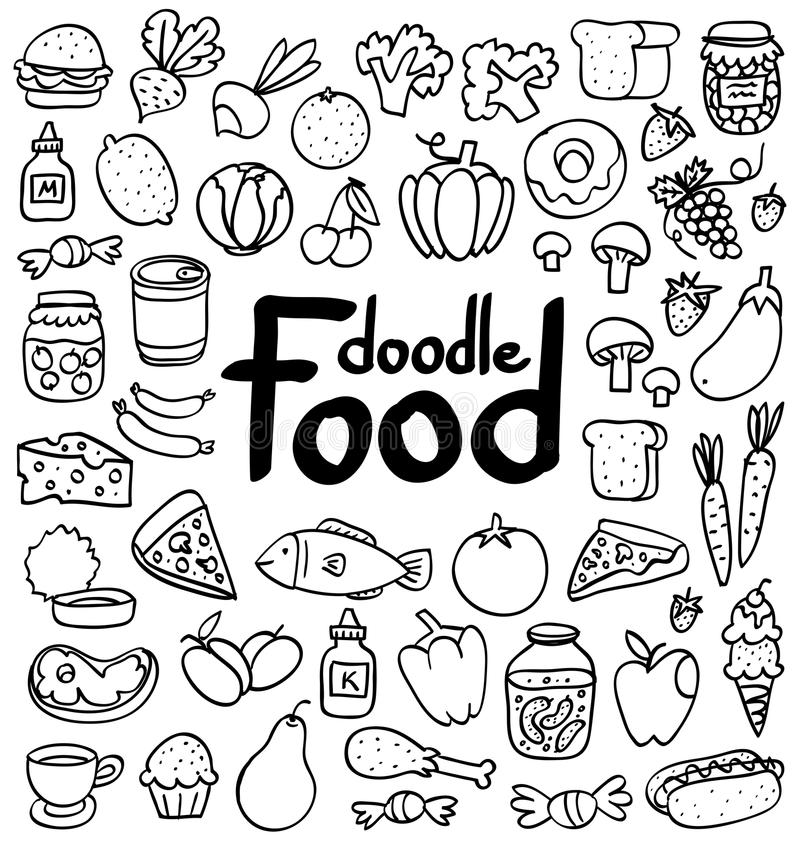 Food doodle stock illustration