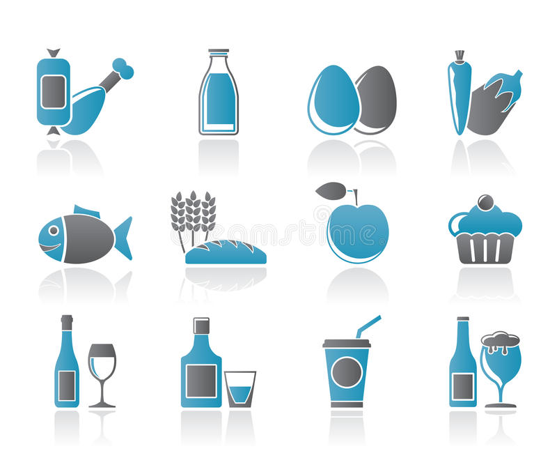 Download Food, Drink And Aliments Icons Stock Vector - Image: 20281432