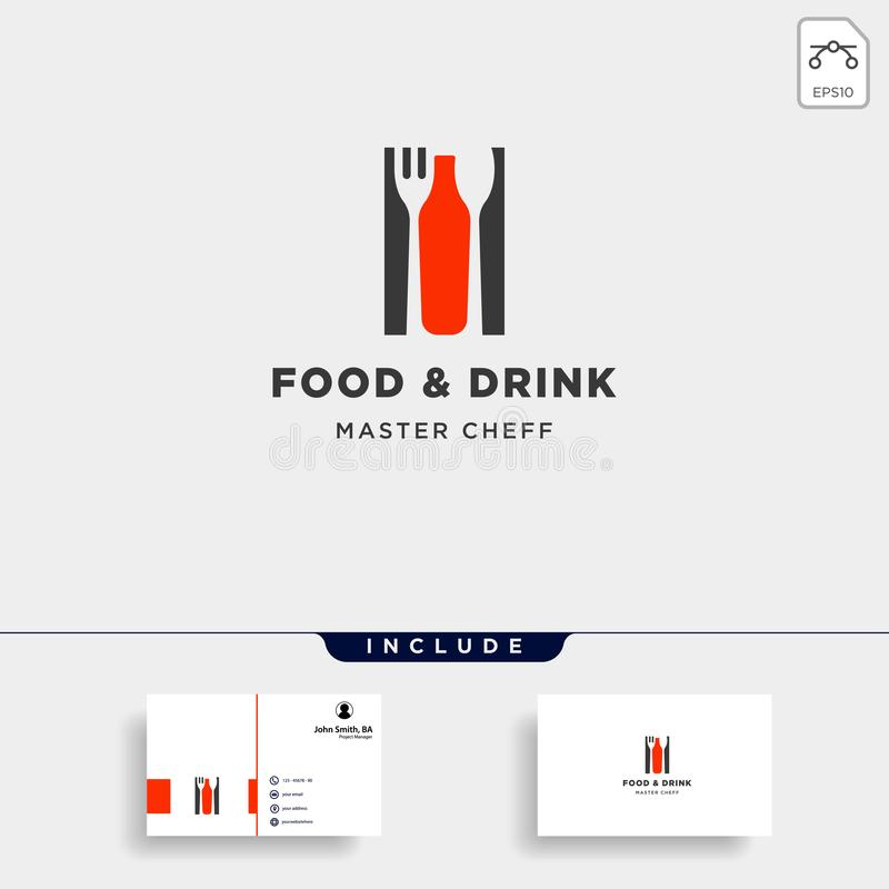 food and drink bottle simple flat logo design vector illustration stock illustration