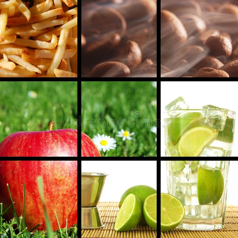 Download Food and drink collage stock image. Image of sweet, dieting - 13715887