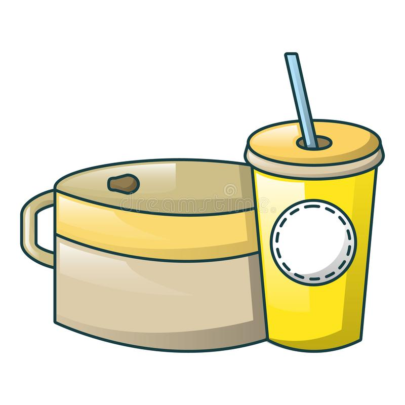 Food and drink icon, cartoon style royalty free illustration