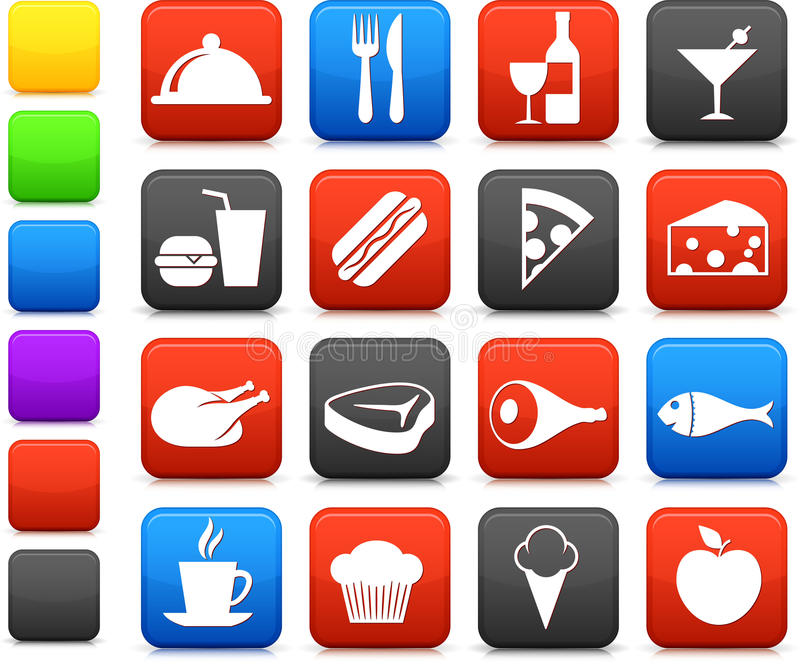 Food and drink icon collection vector illustration