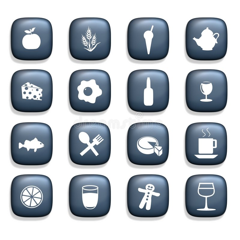 Free Food & Drink Icons Royalty Free Stock Images - 4667189