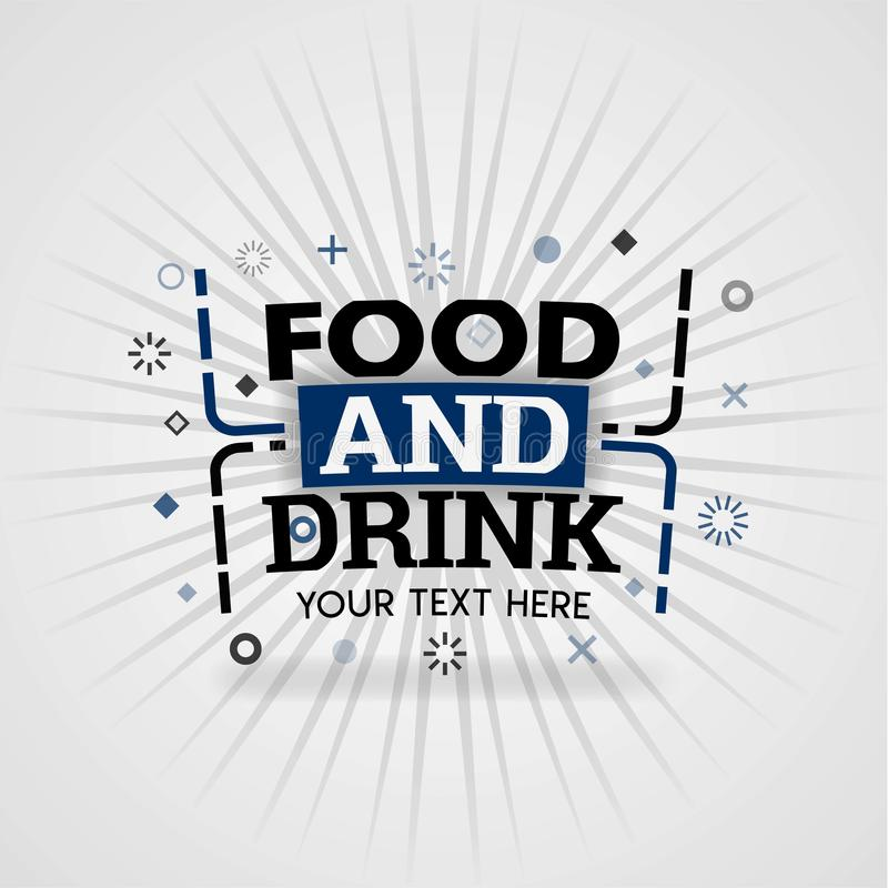 Food and Drink logo for free recipe websites. Can be use for landing page, web ui, banner, poster, template, flyer. can also be for various fields of business royalty free illustration