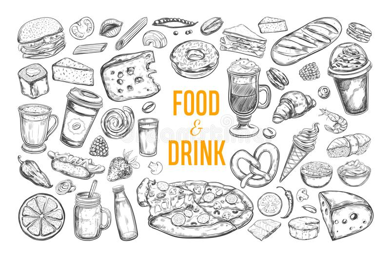 Food and Drink vector big set 3 vector illustration
