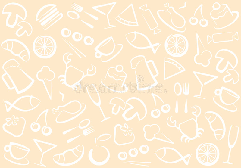 Download Food and drinks pattern stock vector. Image of dessert - 8726323