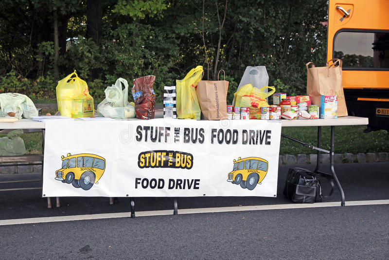 Download Food Drive editorial stock image. Image of cans, charity - 26252814