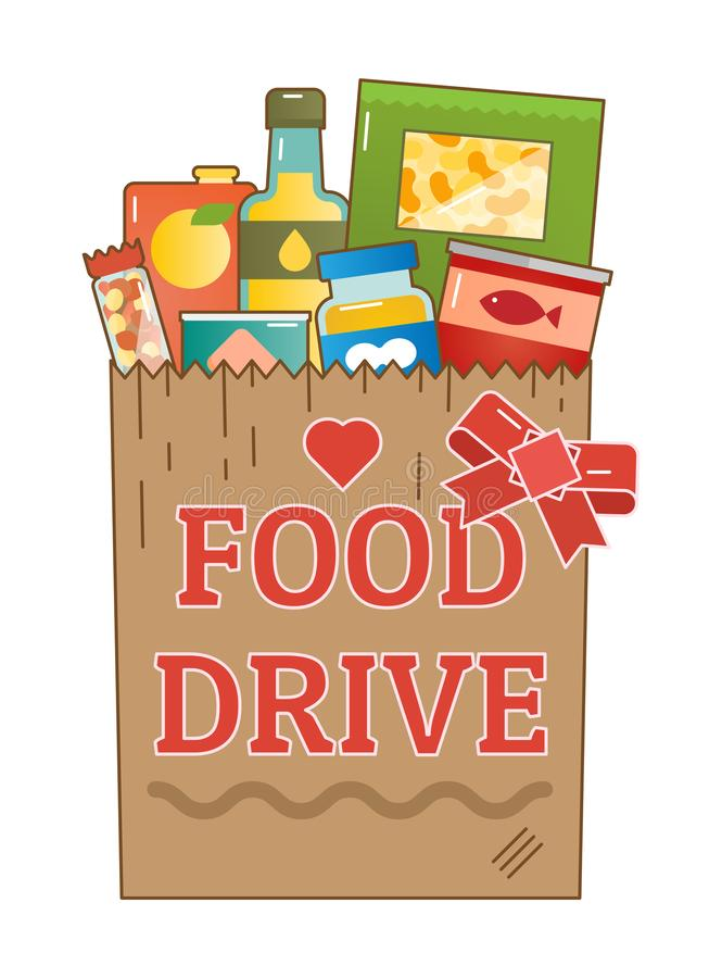Free Food Drive Charity Movement Logo Vector Illustration Stock Photography - 106690652