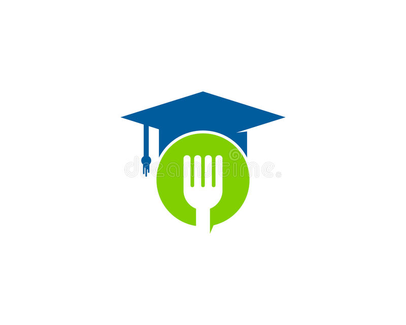 Food Education Icon Logo Design ELement. This design can be used as a logo, icon or as a complement to a design vector illustration
