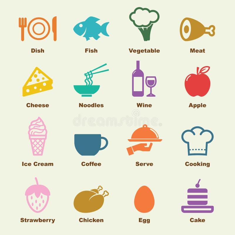 Food elements royalty free illustration