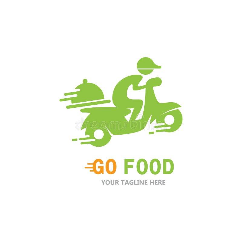 Food express delivery logo vector illustration