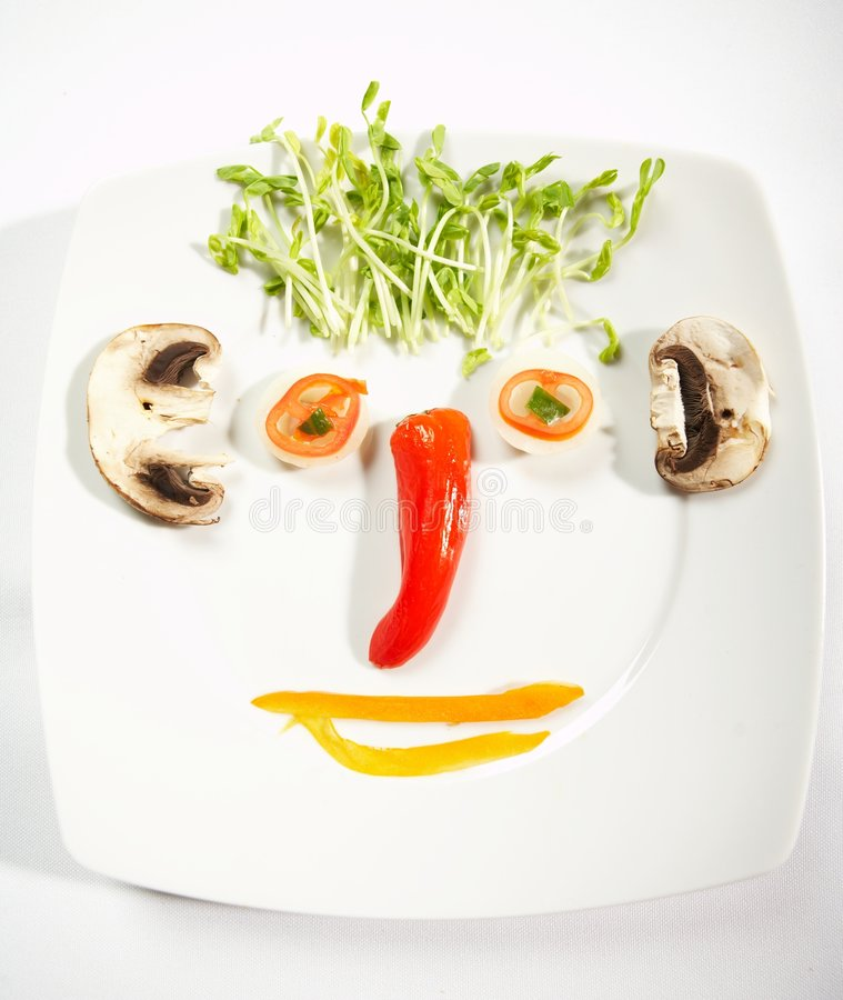 Food face concept. Food concept royalty free stock photo