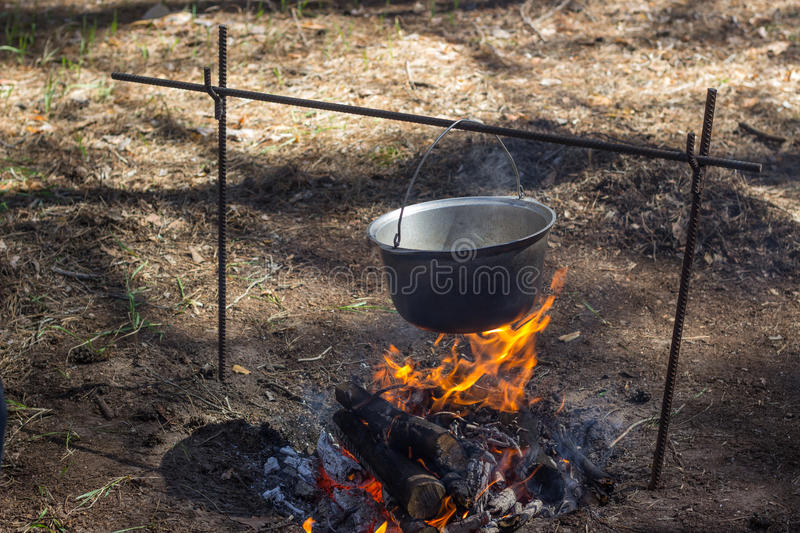 Food on fire. Nature. royalty free stock photos