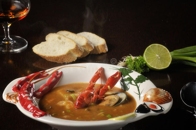 Food: fish soup stock photo