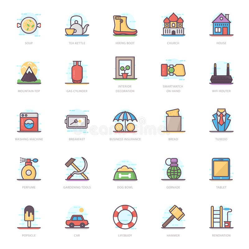 Food Flat Icons Pack royalty free illustration