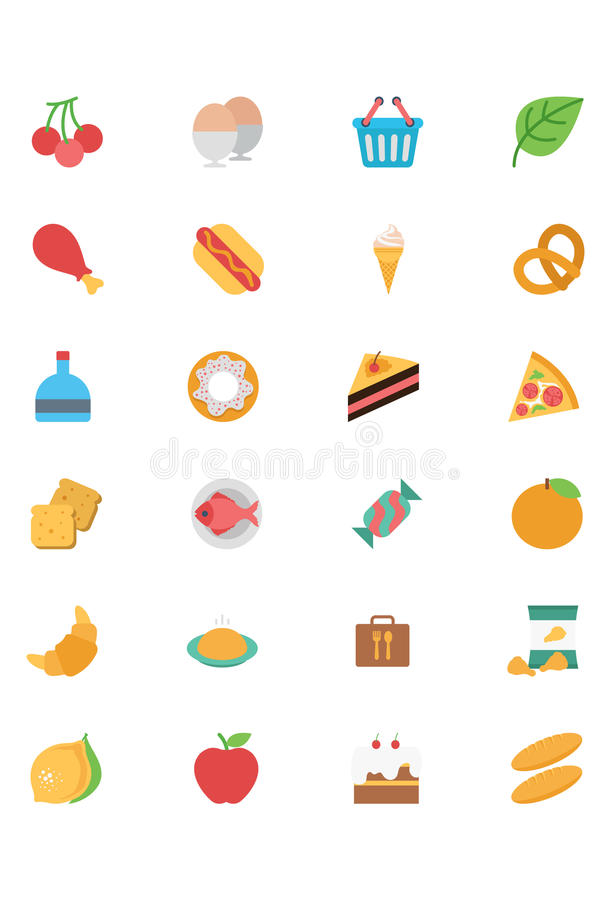 Free Food Flat Vector Icons 2 Royalty Free Stock Photography - 71161827