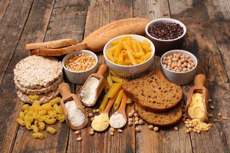 Food free gluten royalty free stock photography