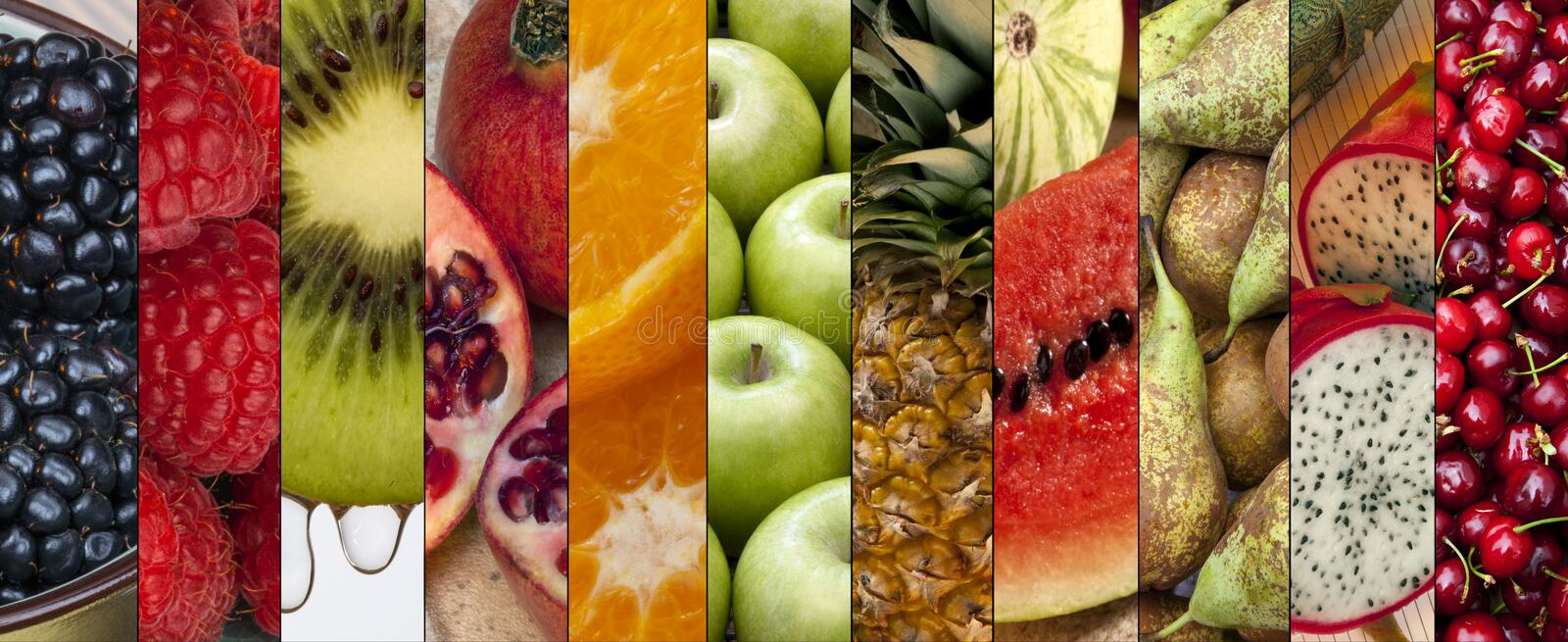Food - Fresh Fruit - Page Header stock photography