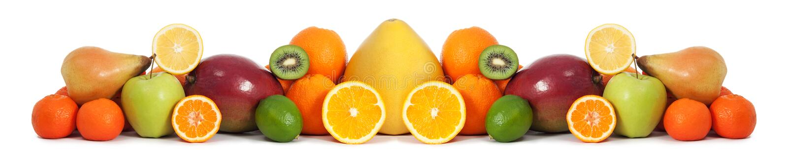 Food fruit banner royalty free stock photos
