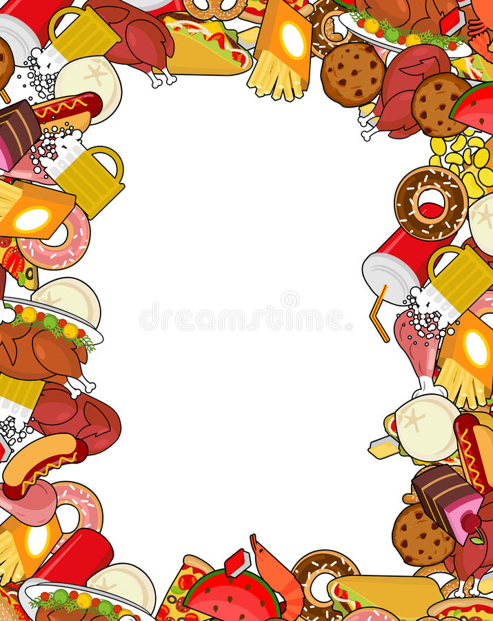 food gourmet frame background of feed edible cadre pizza and rh dreamstime com Gourmet Meal Snack Clip Art