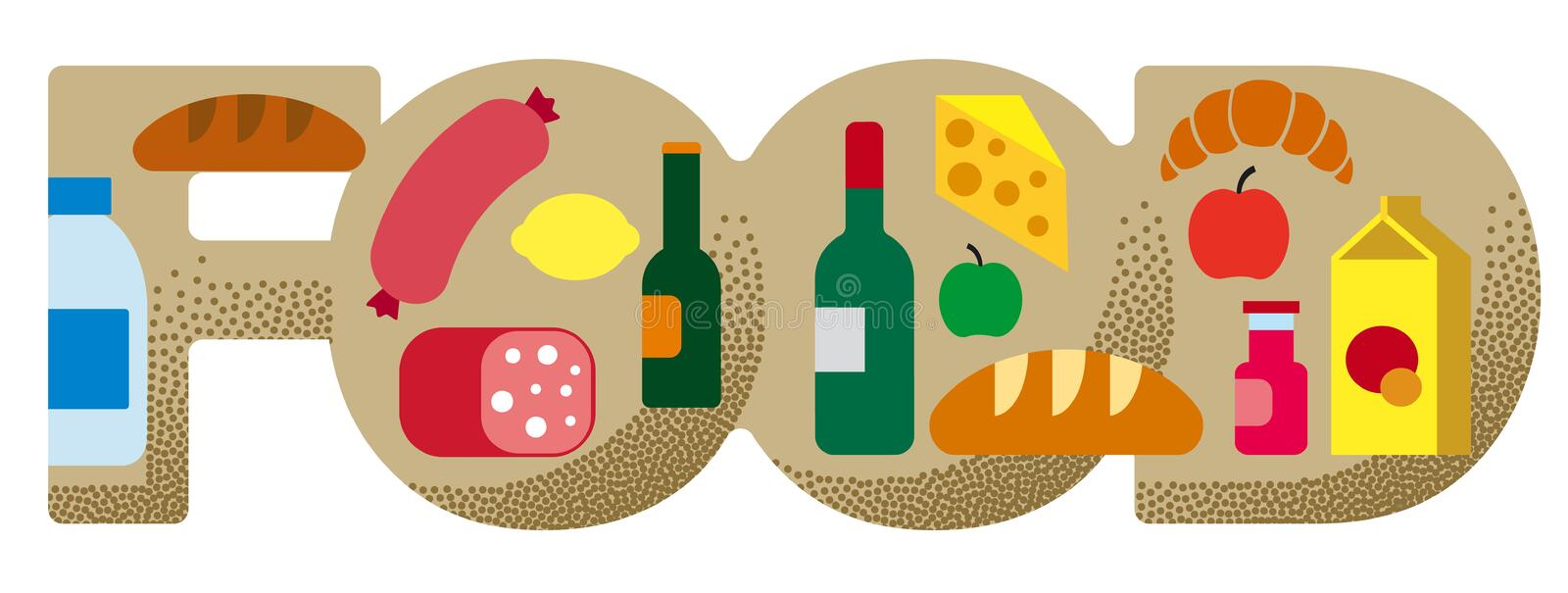 Food grocery banner stock illustration